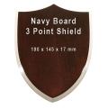 Navy 3 Point Shield